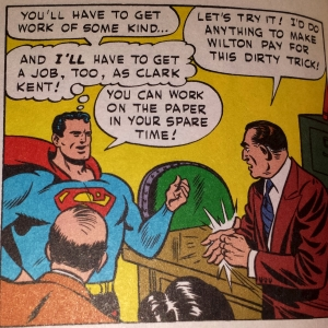 The Man of Tomorrow foretells the Future of Journalism. From SUPERMAN #79, 1952