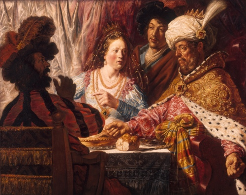 Lievens's The Feast of Esther was attributed to Rembrandt when Wheelock first studied it in the 60s.