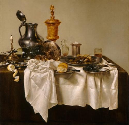 Willem Claesz Heda, Banquet Piece with Mince Pie, 1635