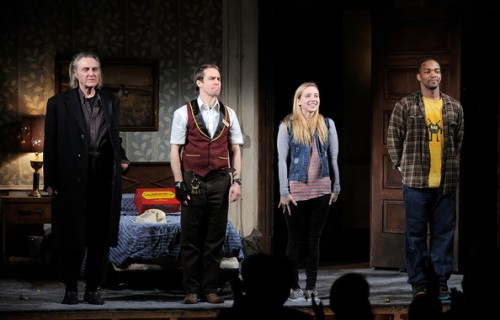 "The Broadway cast of ""A Behanding in Spokane"" in 2010."