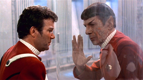 "Spock's final farewell to his old buddy Jim, from ""Star Trek II: The Wrath of Khan."""