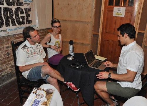 PurgeCastin' with Jason Patrick Wells & Jacy Barber (right). Photo by Paul GIllis, courtesy Capital Fringe.