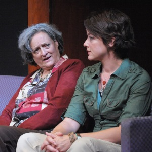 "Nancy Robinette & Megan Anderson in ""After the Revolution."" Photo: Stan Barouh/Theater J."