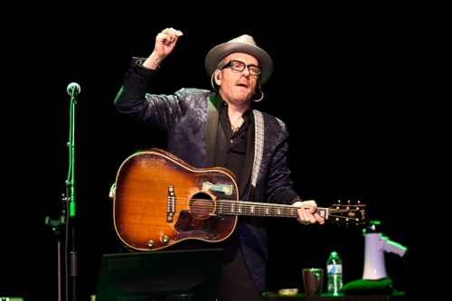 Elvis Costello at Linser Auditorium, Friday, Nov. 22, 2013. Photo; Francis Chung.