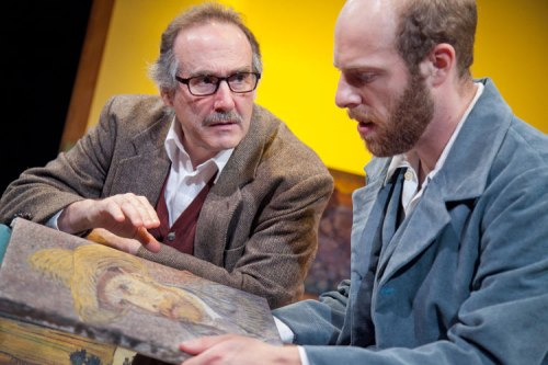 "Lawrence Redmond & Ryan Tumulty in ""Inventing Van Gogh."" (C. Stanley Photography/Washington Stage Guild)"
