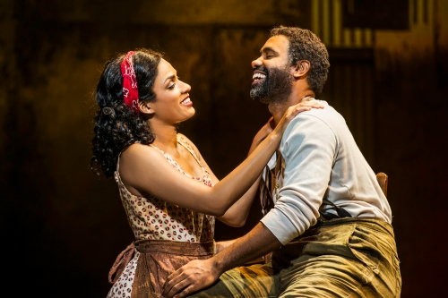 "Alicia Hall Moran & Nathaniel Stampley as Bess and Porgy in ""The Gershwins' Porgy & Bess."""