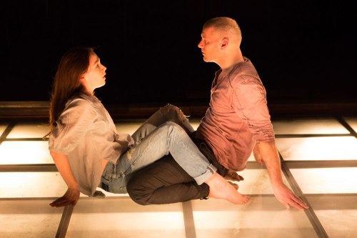 "Laura C. Harris and Elan Zafir in Signature Theatre's ""Tender Napalm"" (Teresa Wood)"