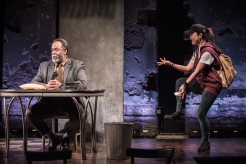 """Vincent J. Brown and Amy Kim Waschke in """"Water by the Spoonful"""""""