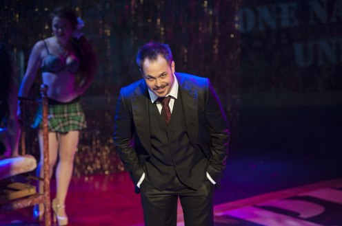 "Mitchell Jarvis as MacHeath in Signature Theatre's ""The Threepenny Opera."""