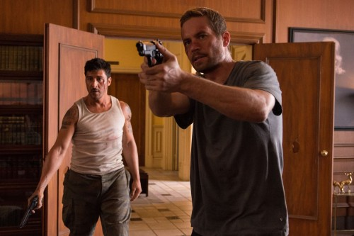 "David Belle and Paul Walker in ""Brick Mansions."""
