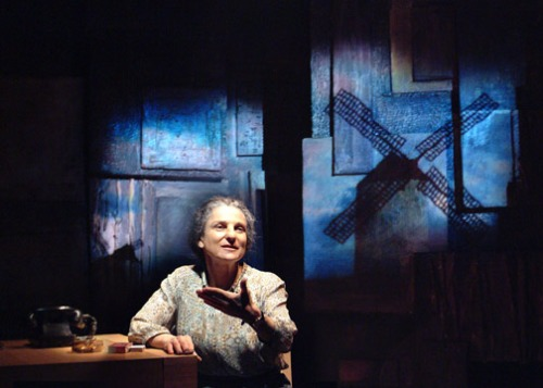 "Tovah Feldshuh as Golda Meir in ""Golda's Balcony"" by William Gibson."