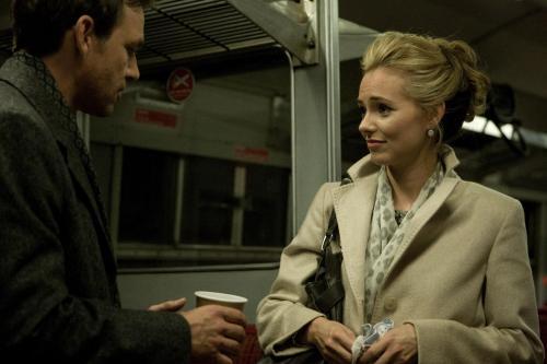 """Dougray Scott and Kara Tointon in Omid Nooshin's  """"Last Passenger."""""""