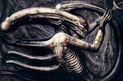 "H. R. Giger, ""Necronomicon IV,"" 1975."