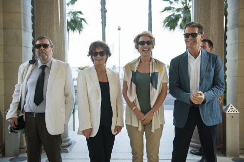 "Timothy Spall, Celia Imrie, Emma Thompson, and Pierce Brosnan in ""The Love Punch."" (Etienne George)"