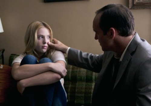 "Saxon Sharbino and Clark Gregg in ""Trust Me,"" which Gregg wrote and directed."