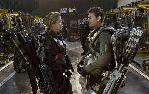 "Emily Blunt & Tom Cruise in ""Edge of Tomorrow,"" one of the sharpest summer blockbusters in years."