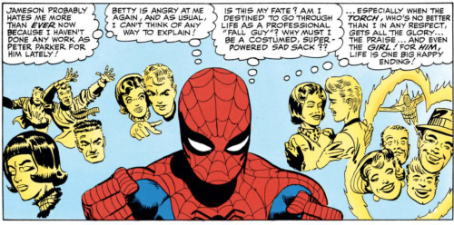 Panel from The Amazing Spider-Man #21, by Stan Lee 7 Steve Ditko.