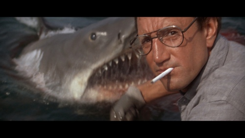 "Scheider in ""JAWS."" I knew Spielberg's 1975 genre-starter would be No. 1."