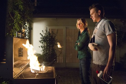 "Cameron Diaz and Jason Segel set fire to The Cloud in ""Sex Tape"" (Claire Folger/Sony)."