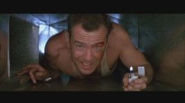 "Yippie kai yay, movielover. Bruce Willis in John McTiernan's ""Die Hard,"" 3rd-best summer blockbuster ever. John McClane 4eva."
