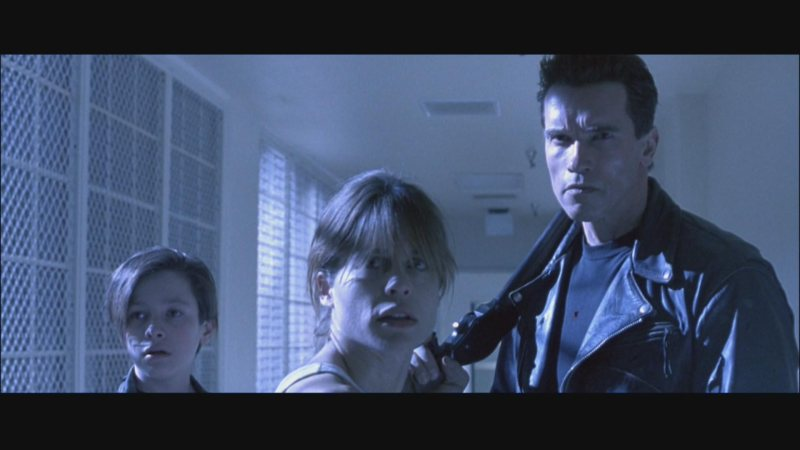 "Nuclear Family: Eddie Furlong, Linda Hamilton, and Arnold Schwarzenegger fight the future in ""Terminator 2: Judgment Day."""