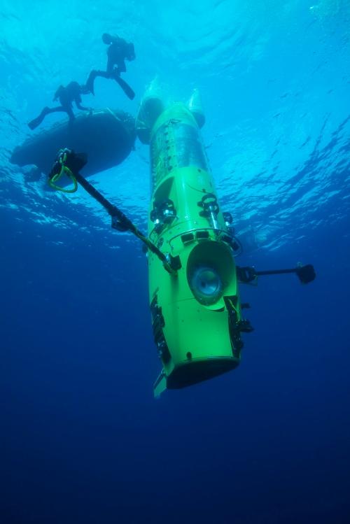 The Deepsea Challenger (Mark Thiessen/National Geographic)