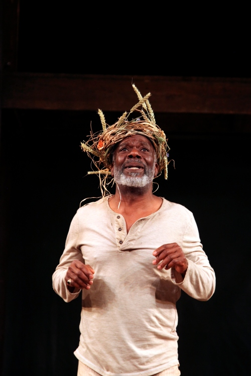 Joseph Marcell as King Lear in the Globe's touring production.