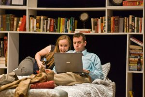 "Rachel and Matthew Sparacino in ""The Campsite Rule."" (Brian Allard)"