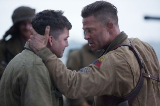 Logan Lerman is a green member of Brad Pitt's tank crew in David Ayer's FURY.