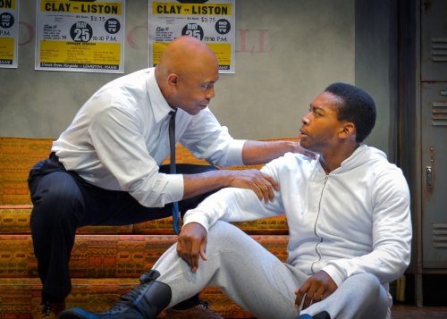 "Roscoe Orman and Eddie Ray Jackson as Stehin Fetchit and Muhammad Ali in ""Fetch Clay, Make Man."""