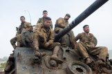 Shia LaBeouf, Logan Lerman, Brad Pitt, Michael Pena, and Jon Bernthal in David Ayer's FURY.