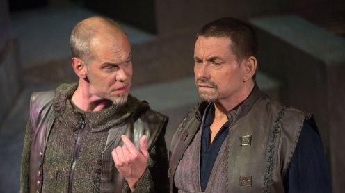 "Louis Butelli and Anthony Cochrane in ""Julius Caesar."""