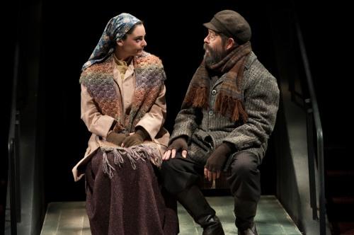 "Hannah Corneau as Hodel & Jonathan Hadary as Tevye in Arena's ""Fiddler."" (Margot Schulman)"