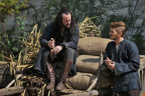 """Nicholas Cage & Hayden Christensen in """"Outcast."""""""