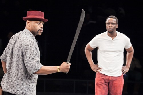 (L to R) KenYatta Rogers as Mister and Bowman Wright as King in King Hedley II at Arena Stage at the Mead Center for American Theater, February 6-March 8, 2015. Photo by C. Stanley Photography.