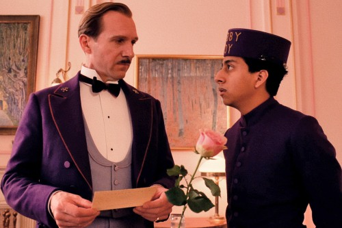 "Ralph Fiennes and Tony Revolori in Wes Anderson's ""The Grand Budapest Hotel."""
