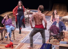 "Sherri L. Edelen, Grace Gonglewski, Jefferson Farber, Rachel Esther Tate and Eric Hissom in ""Vanya and Sonia and Masha and Spike."" (C. Stanley Photography)"