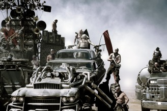 """NATHAN JONES as Rictus Erectus and HUGH KEAYS-BYRNE as Immortan Joe in Warner Bros. Pictures' and Village Roadshow Pictures' action adventure """"MAD MAX: FURY ROAD,"""" a Warner Bros. Pictures release. (Jasin Boland)"""