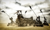 """A scene from Warner Bros. Pictures' and Village Roadshow Pictures' action adventure """"MAD MAX: FURY ROAD,"""" a Warner Bros. Pictures release. (Jasin Boland)"""