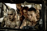 """NICHOLAS HOULT as Nux, COURTNEY EATON as Fragile, RILEY KEOUGH as Capable, CHARLIZE THERON as Furiosa and ABBEY LEE KERSHAW as Wag in Warner Bros. Pictures' and Village Roadshow Pictures' action adventure """"MAD MAX: FURY ROAD,"""" a Warner Bros. Pictures release. (Jasin Boland)"""