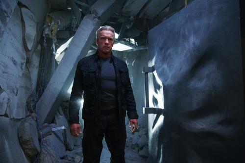 """Arnold Schwarzenegger in """"Terminator: Genisys"""" (sic)"""