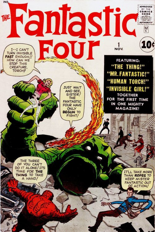 The Fantastic Four No. 1, 1961. Cover by Jack Kirby.