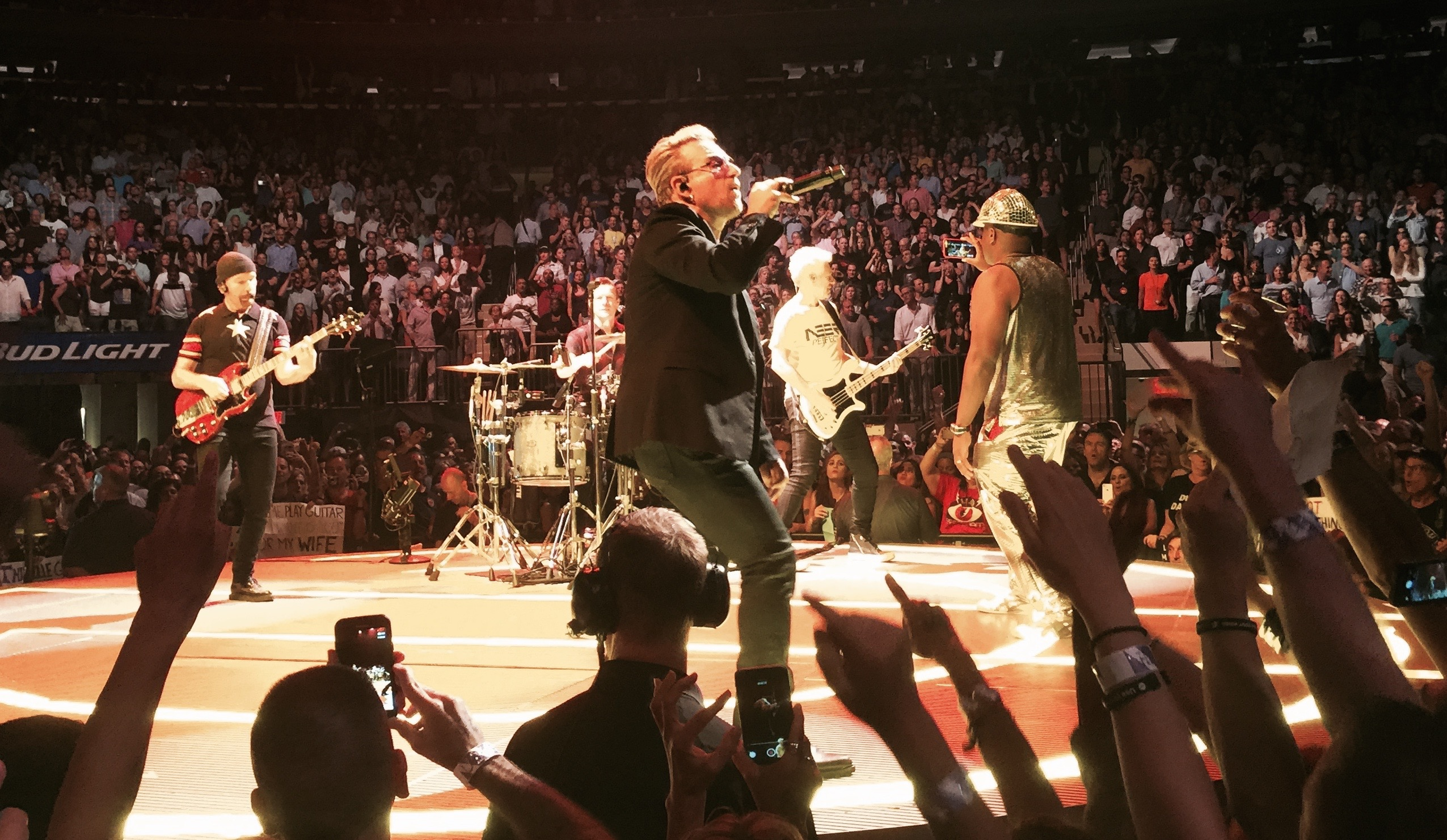 the guy in the silver lame is mark baker aka - U2 At Madison Square Garden