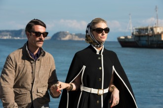 "Luca Calvani and Elizabeth Debicki in ""The Man from U.N.C.L.E."""