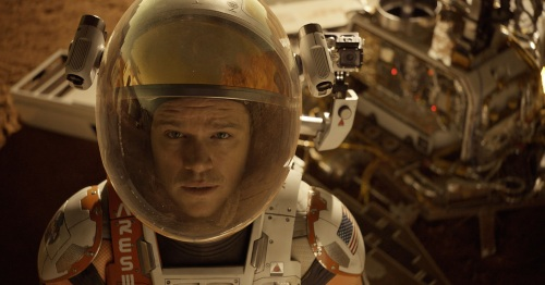 Astronaut Mark Watney (Matt Damon) finds himself stranded and alone on Mars, in THE MARTIAN. (20th Century Fox)