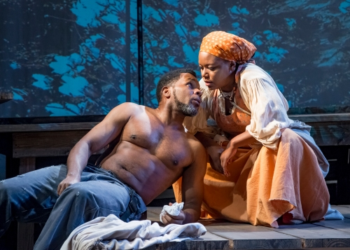 "Anthony Manough and Cynthia D. Barker in MetroStage's ""Uprising."" (Chris Banks)"