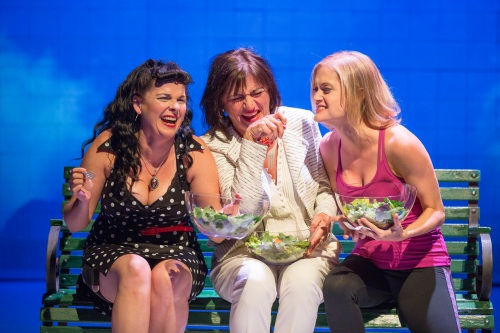 Kimberly Gilbert, Janet Ulrich Brooks, and Meghan Reardon in %22Women Laughing Alone with Salad.%22 (Scott Suchman)
