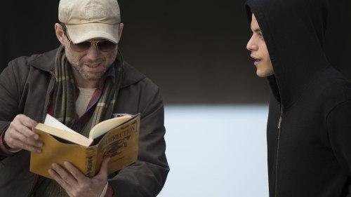 Christian Slater and Rami Malek in
