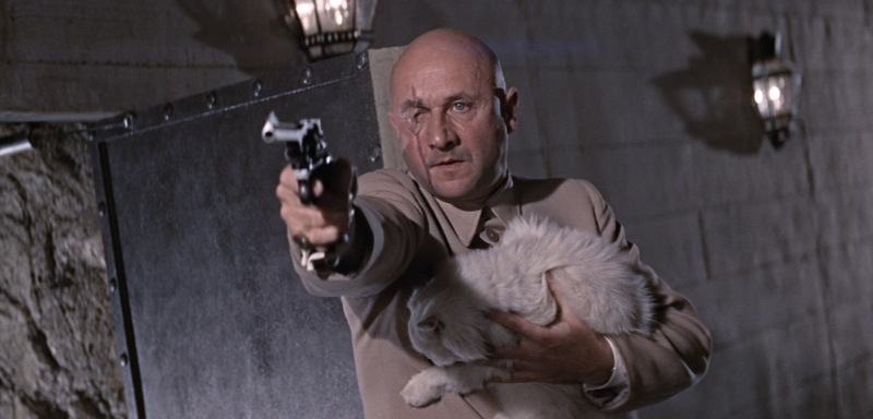 "Donald Pleasance as Blofeld in ""You Only Live Twice."""