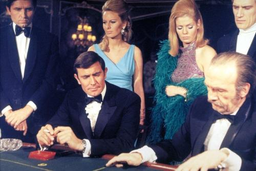"Underheralded 007 flick ""On Her Majesty's Secret Service,"" from 1969, starring adequately-heralded 007 George Lazenby."